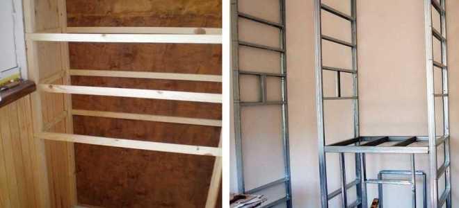 Как своими руками изготовить дешёвый встроенный шкаф из дерева и других материалов на балконе или лоджии