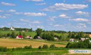 Чем городской образ жизни отличается от сельского: плюсы и минусы