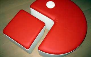 Как сделать пуфик своими руками: мастер-класс по изготовлению стильного предмета мебели